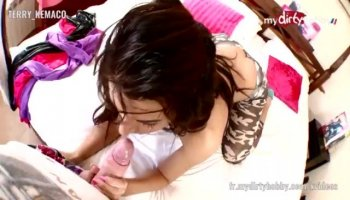 Angel is creating waves with her pov oraljob
